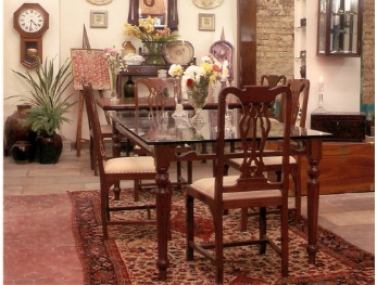 Glass Side Dining Table -