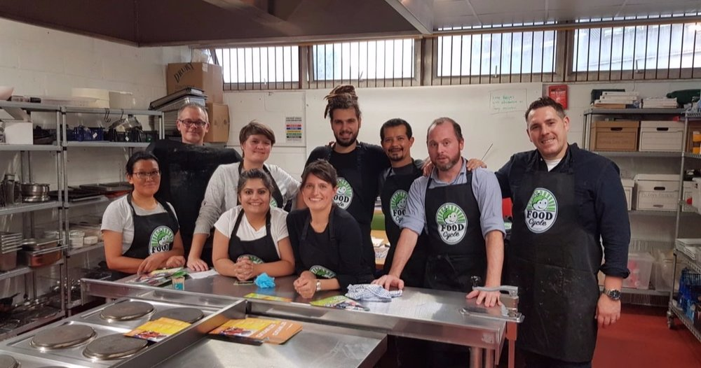 With the team at Foodcycle