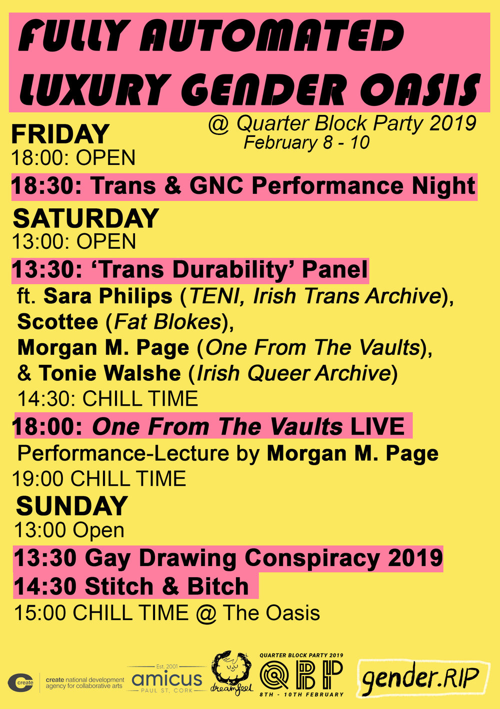 gender.RIP presents: Fully Automated Luxury Gender Oasis @ Quarter Block Party