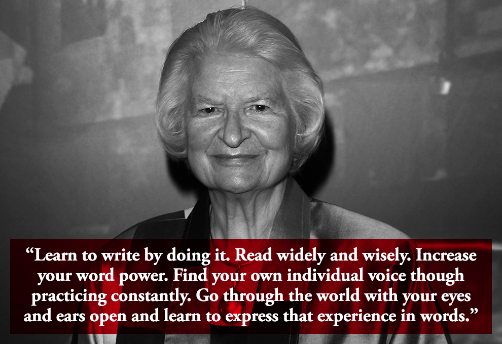 RIP PD James, who died today, aged 94.    Here are  9 PD James quotes every writer needs to read .