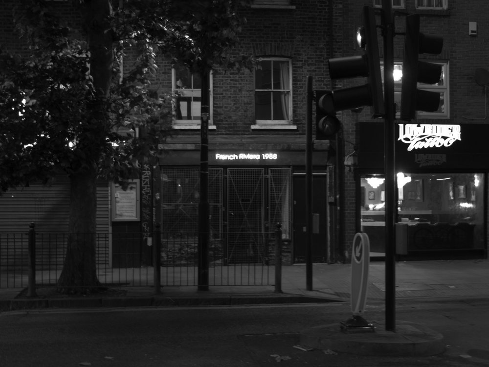 Took this on Bethnal Green Road, a mystery neon sign among the grocers and tailors. It's an art gallery apparently.