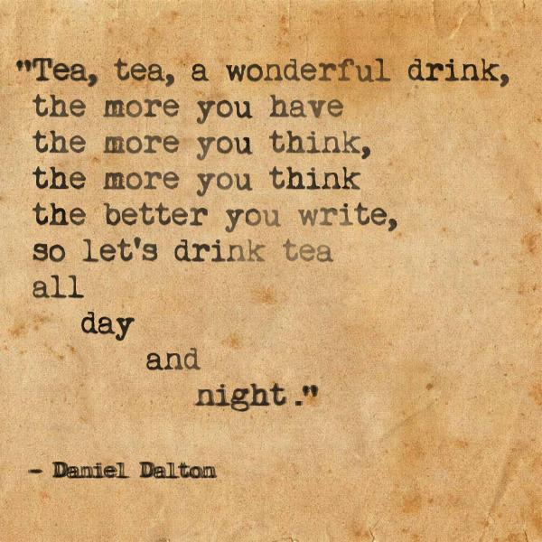 An Ode To Tea