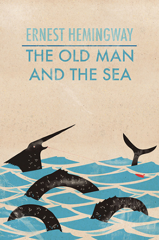 The Old Man And The Sea by Ernest Hemingway     Cover art by Wharton .