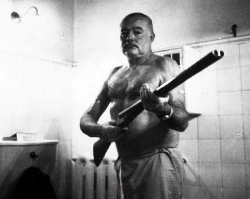 """Get off my damn porch. Or out of my goddamn bathroom at least.""     - Ernest Hemingway    GPOY."