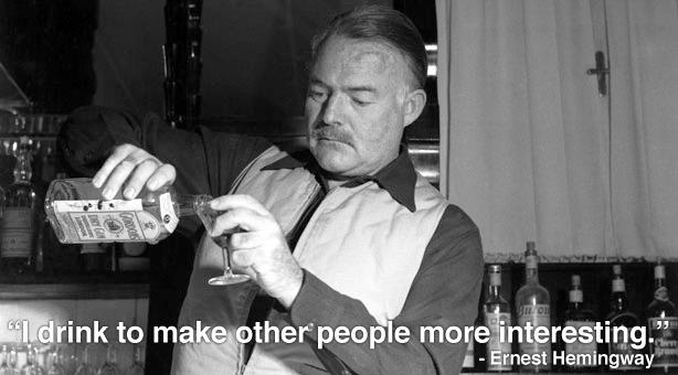 You tell 'em, Papa.     How to drink like Ernest Hemingway  (via  @salon )