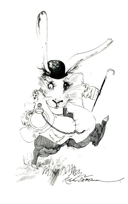 White Rabbit by Ralph Steadman- Inspiration :)   (via: toliveanddieinlondon )