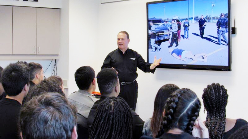 Managing Director David Gray teaches a class on ethics.