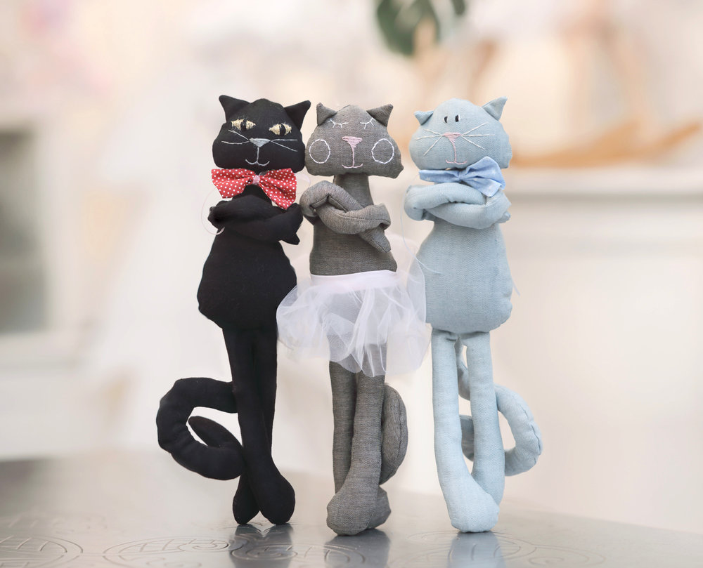 Cats - I have three cats, Tapalo, Mali Šapo and Ljubica so the cats always inspiration