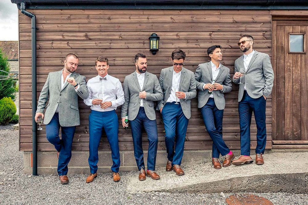 Grooms and Groomsmen Hang Out