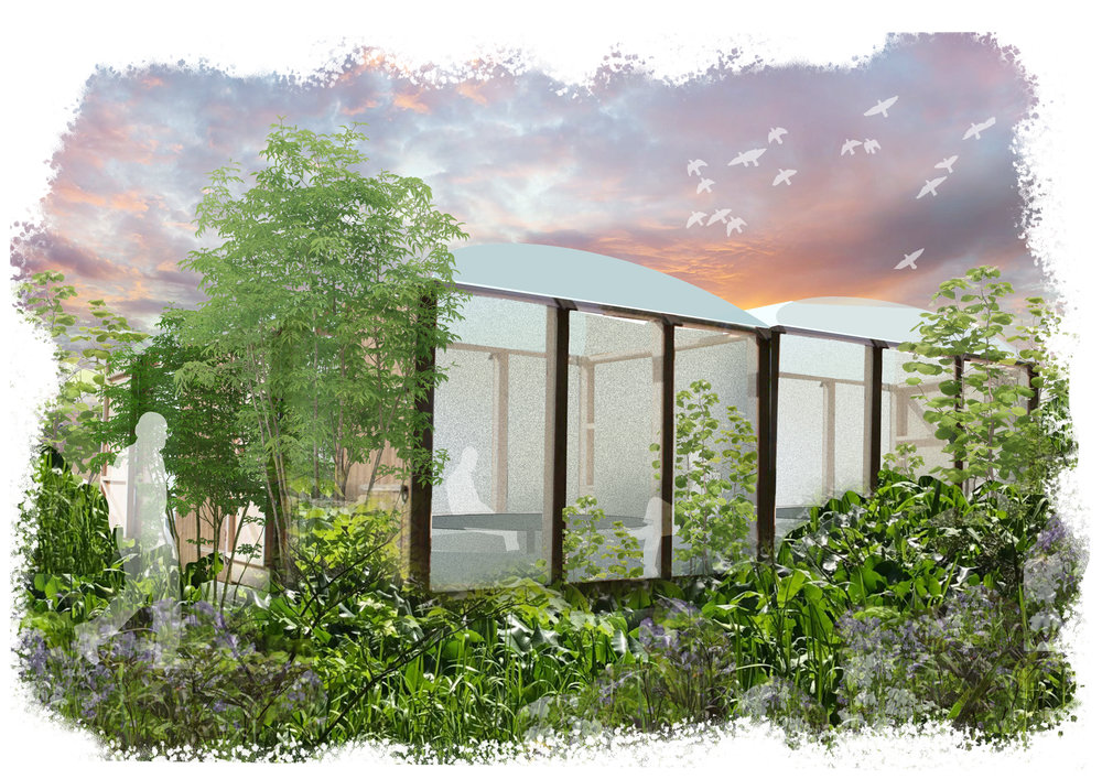 Temporary work structures inspired by nature.