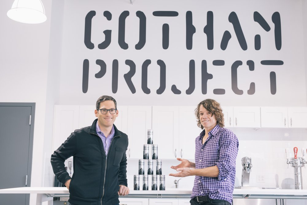 Holy Wine Keg, Batman! They don't wear capes, but Bruce Schneider (l) and Charles Bieler are sustainable-wine-packaging superheros.