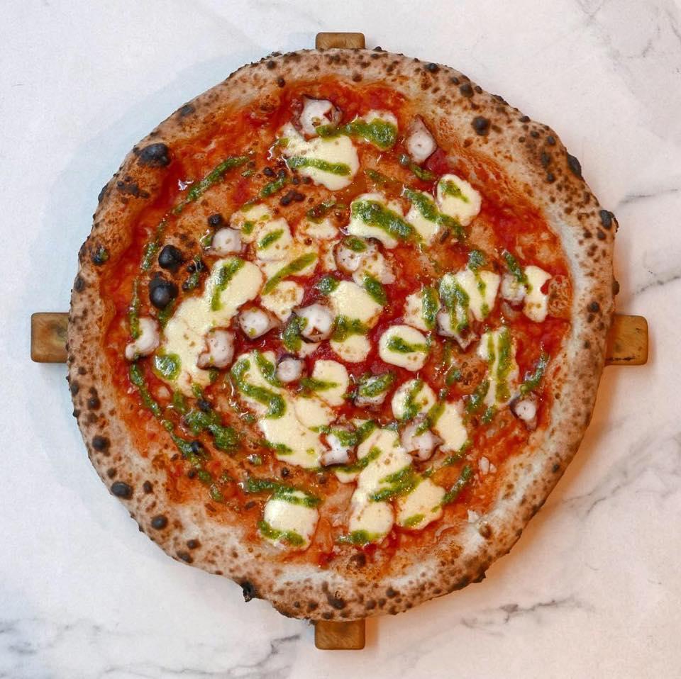 Phil Howard's pizza creation