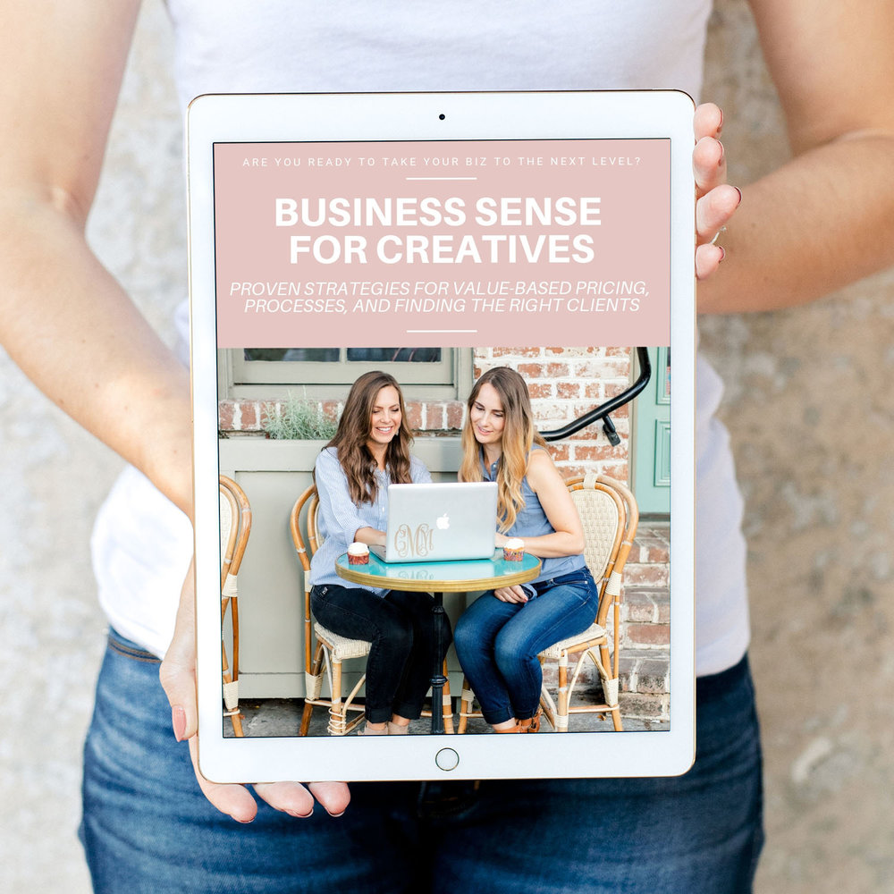 BUSINESS SENSE FOR CREATIVES - We consider this our holy grail of crash courses! This bundle includes three 90-minute videos that walk you through pricing your work based on value, finding the right clients, and building processes in your biz that will lead to success. There's no better place to start than here!