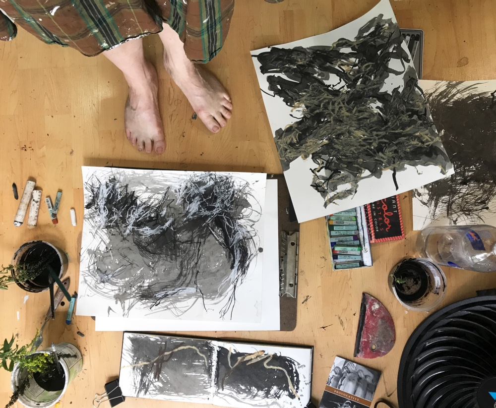 Kira Elliott in her Studio