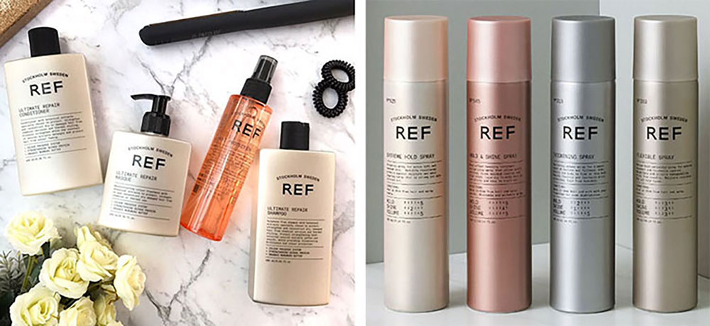 REF Haircare for professionals REF professional haircare products are exclusively distributed via salons. The professional range includes a complete 100% Vegan Care Line, Styling Products, Permanent Color, Soft Color and ProPlex, sold only to only professionals. Cutting edge technology with a Swedish heritage