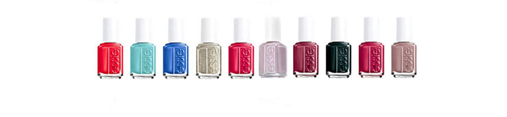 Essie nail products  Fabulous color is always in style. Incredible color selection, including neons, resort and seasonal colors.