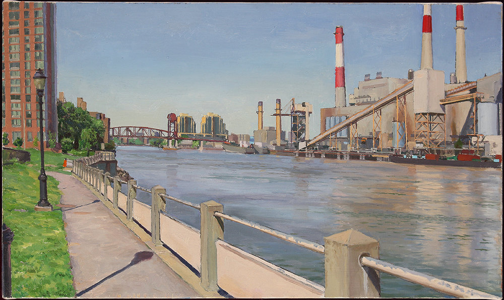 "ROOSEVELT ISLAND oil on linen 14 x 24"" 2018"