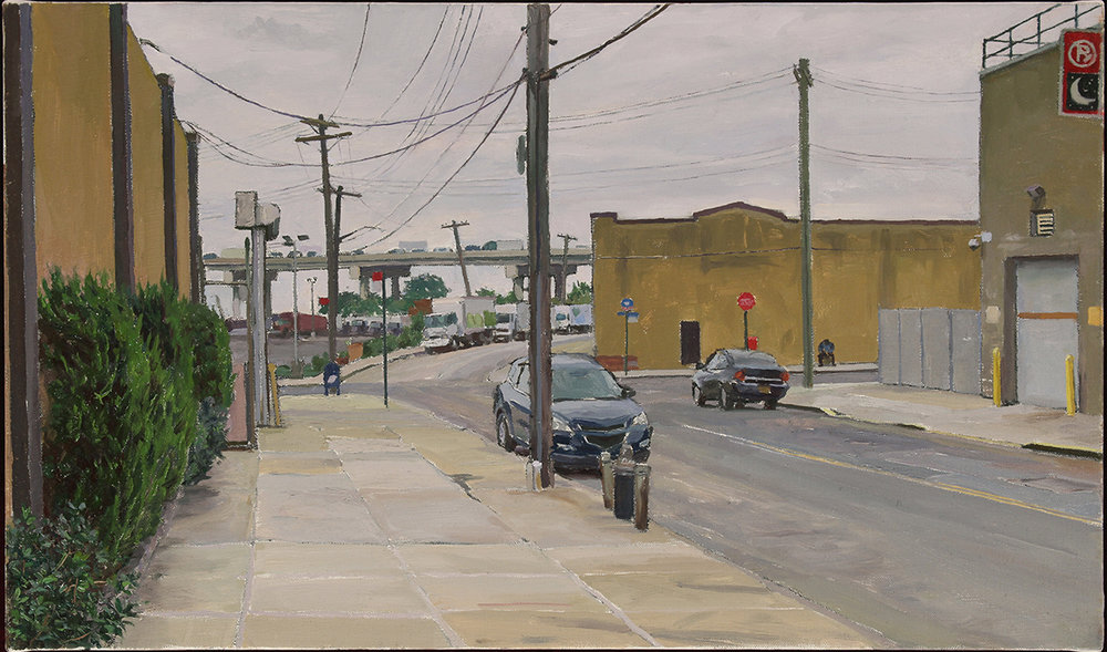 BRIDGEWATER ST. oil on linen 14 x 24 2018