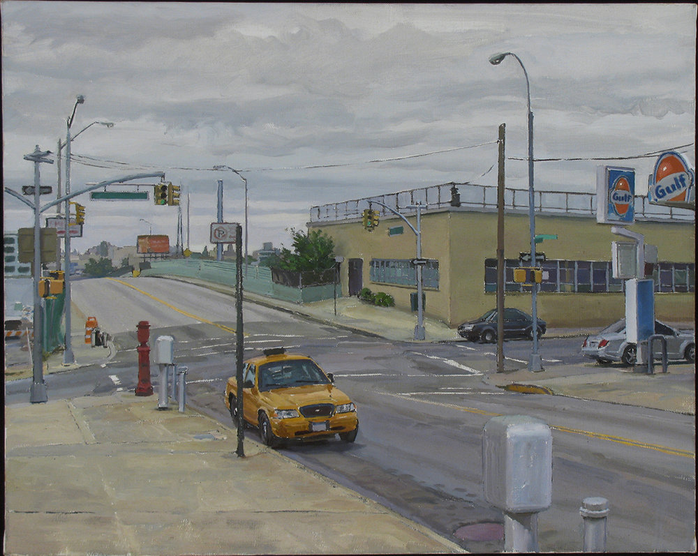 "Y-17: 39THST. S. of SKILLMAN AVE.QUEENS oil on linen 16 x 22"" 2011"