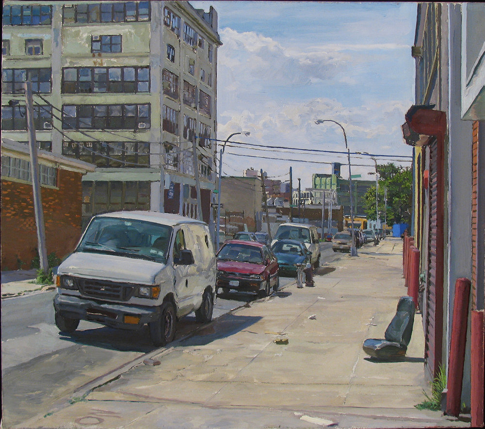 "I-13: 10THST. between 44THand 43RD. RD., QUEENS oil on linen 16 x 18"" 2011"