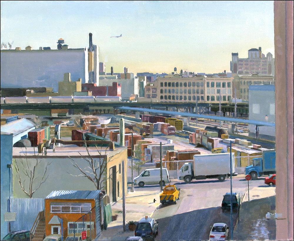 """MORNING oil on linen 18 x 22"""" 2005 (sold)"""