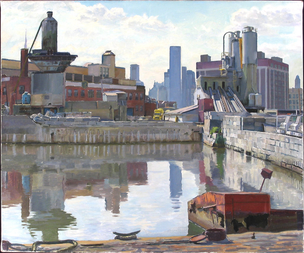 "NEW YORK CONCRETE oil on linen 20 x 24"" 2005 (sold)"