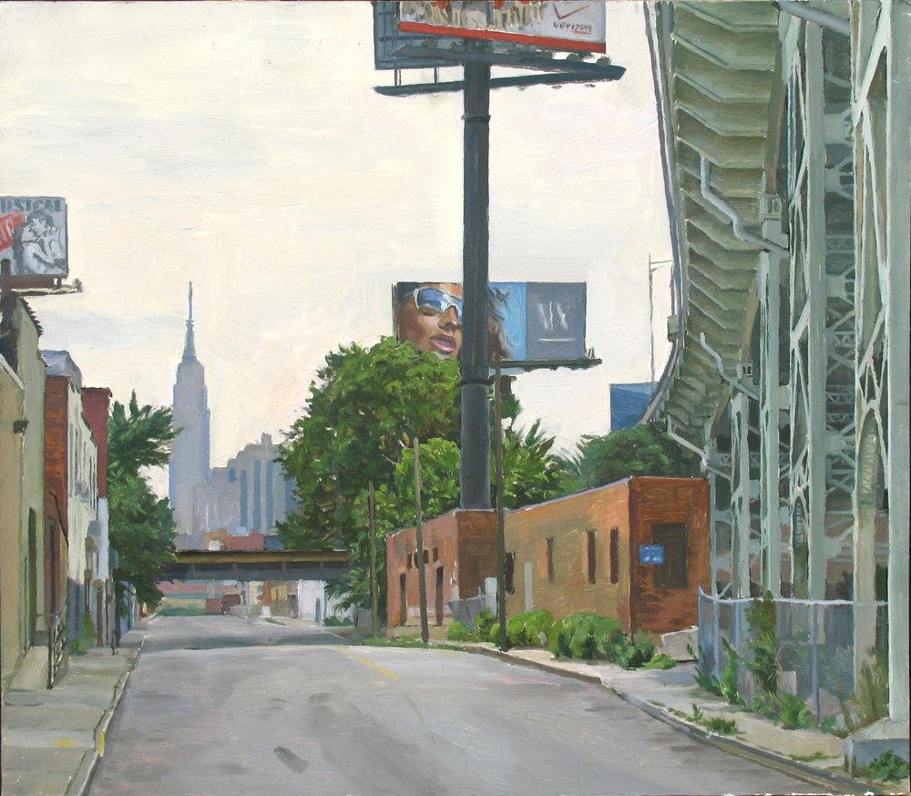 "GROUND LEVEL oil on panel 14 x 16"" 2008"