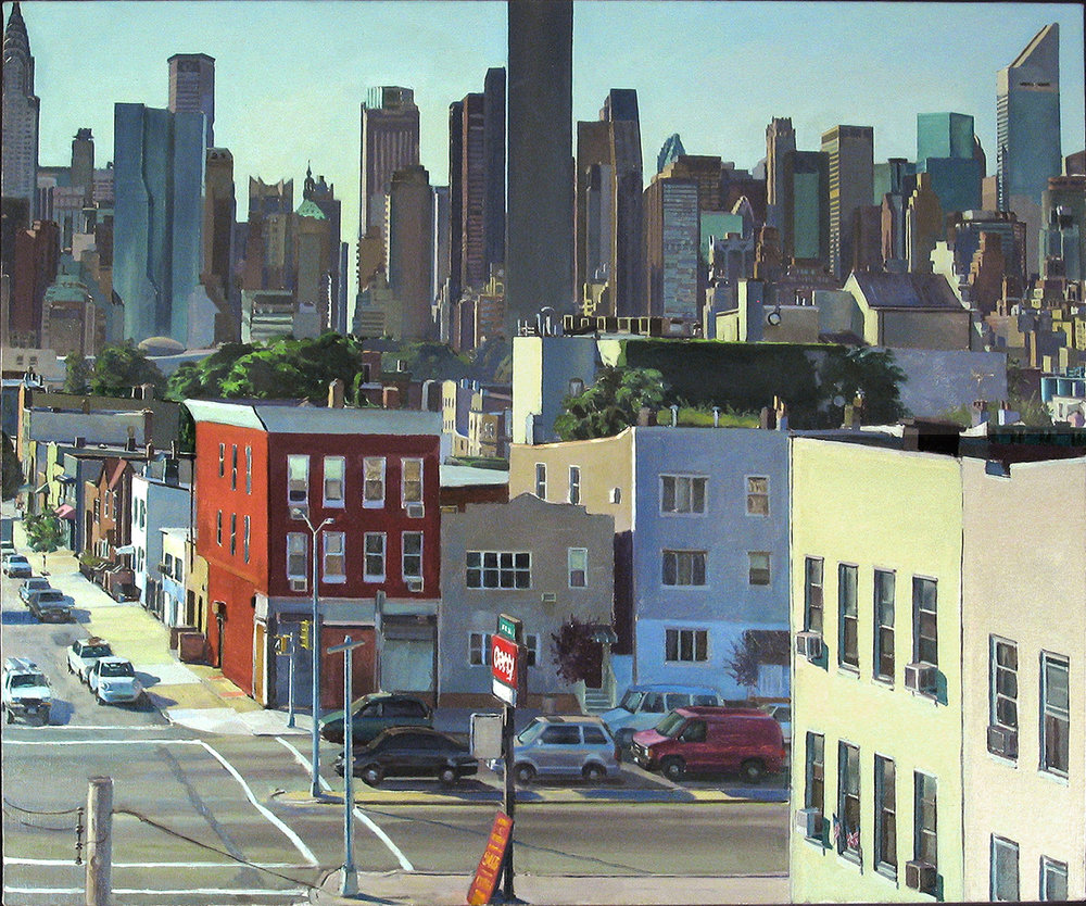"UP TO THE LINE oil on linen 32 x 40"" 2006 (sold)"