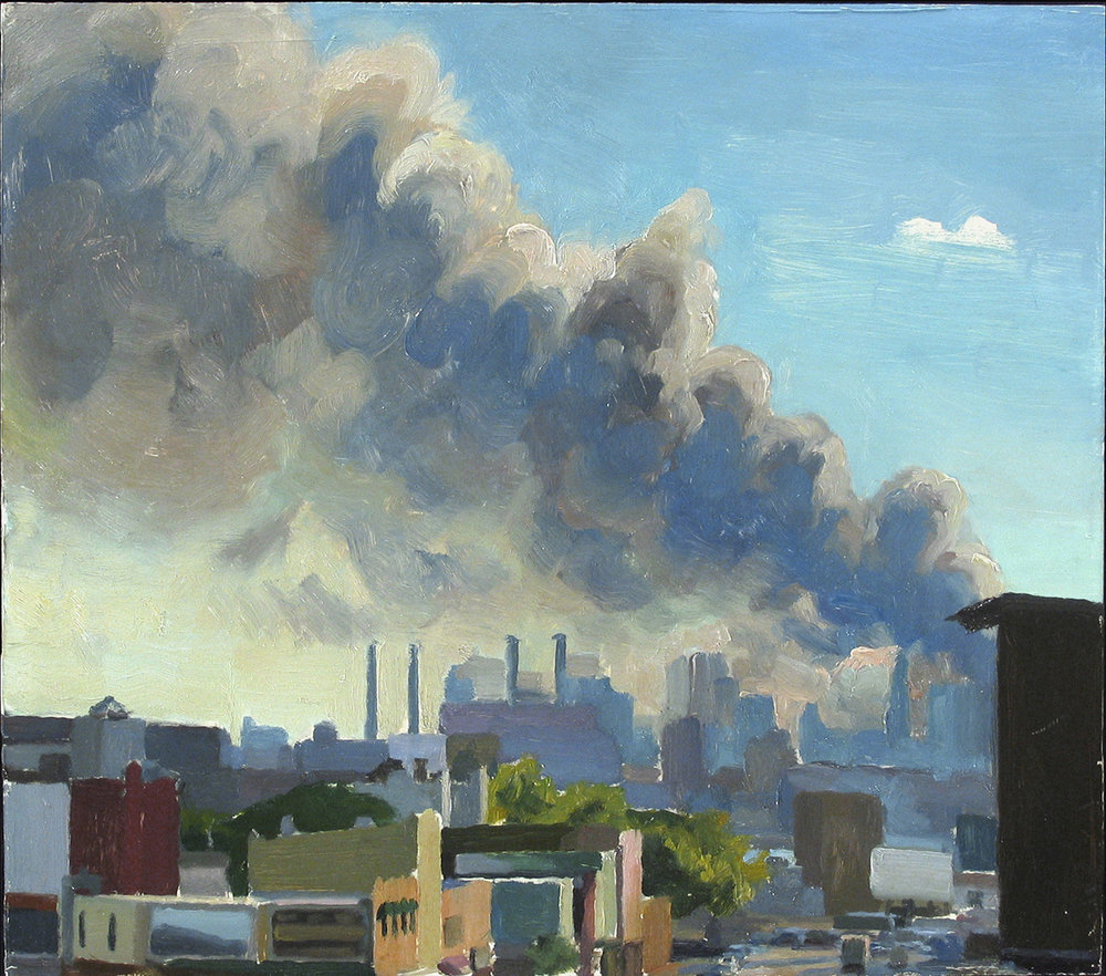 "9/11: AFTERNOON oil on panel 14 x 16"" 2001"