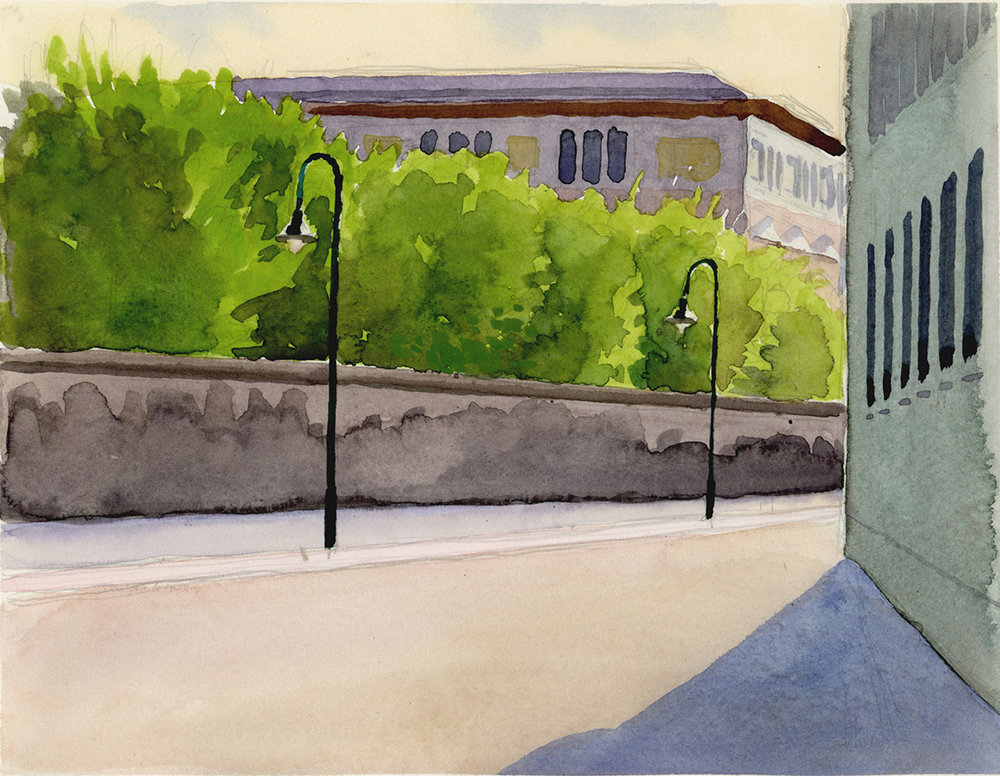 "BERLIN watercolor 9 x 12"" 2005"
