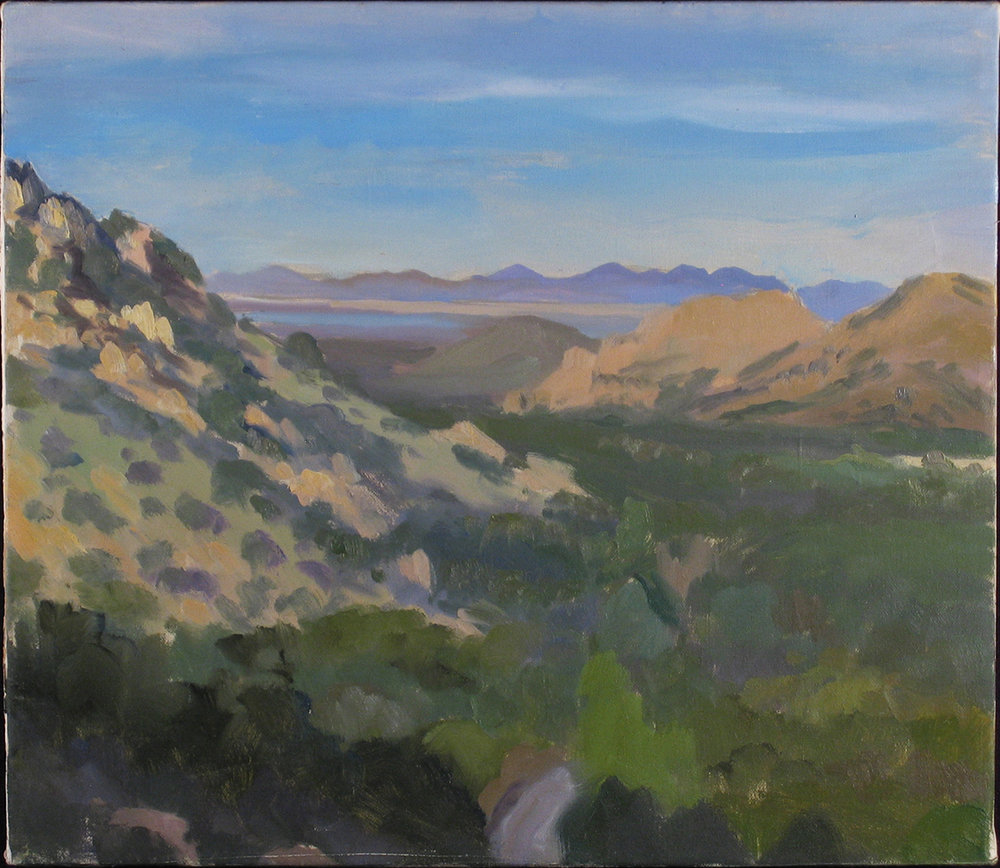 "COCHISES STRONGHOLD oil on canvas 14 x 16"" 2003"