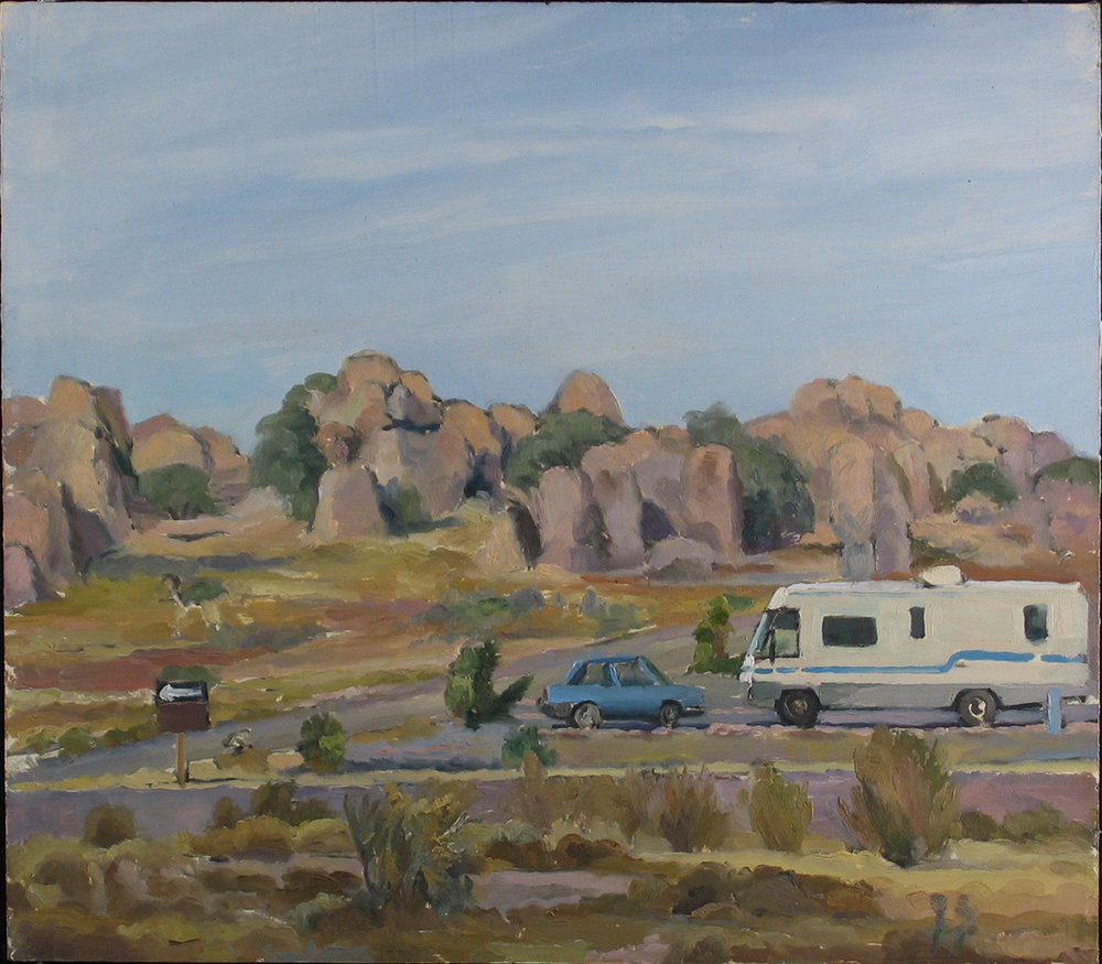 "CITY OF ROCKS oil on panel 14 x 16"" 2005"