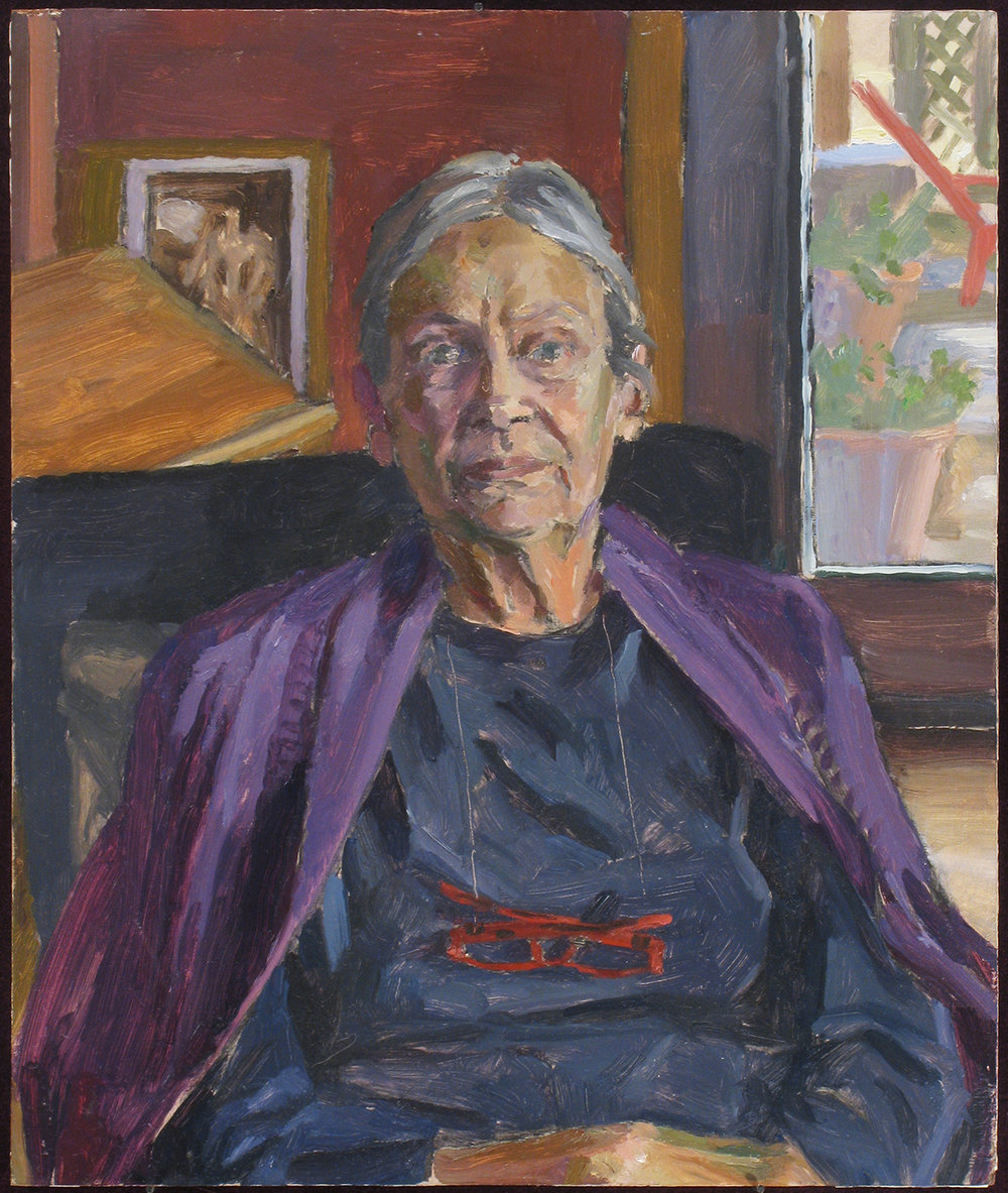 "ARTISTS MOTHER oil on panel 12 x 10"" 2012"
