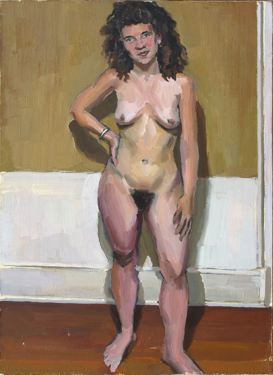 "NAKED WOMAN oil on canvas 20 x 16"" 1988"