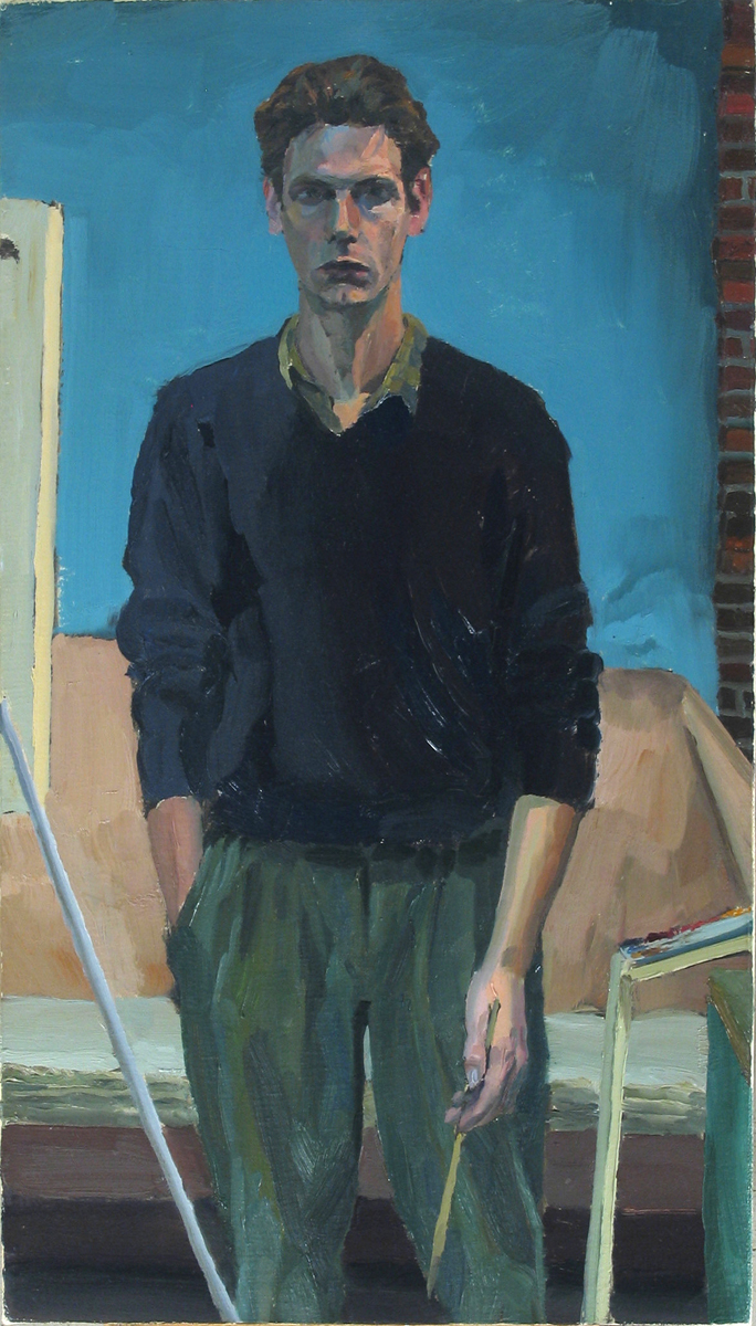 "STANDING oil on canvas  21 x 12"" 1990"