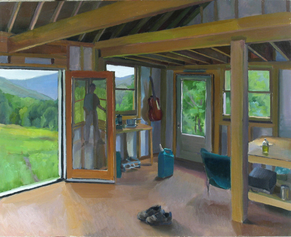"CABIN PORTRAIT oil on canvas 24 x 30"" 1999/2003"