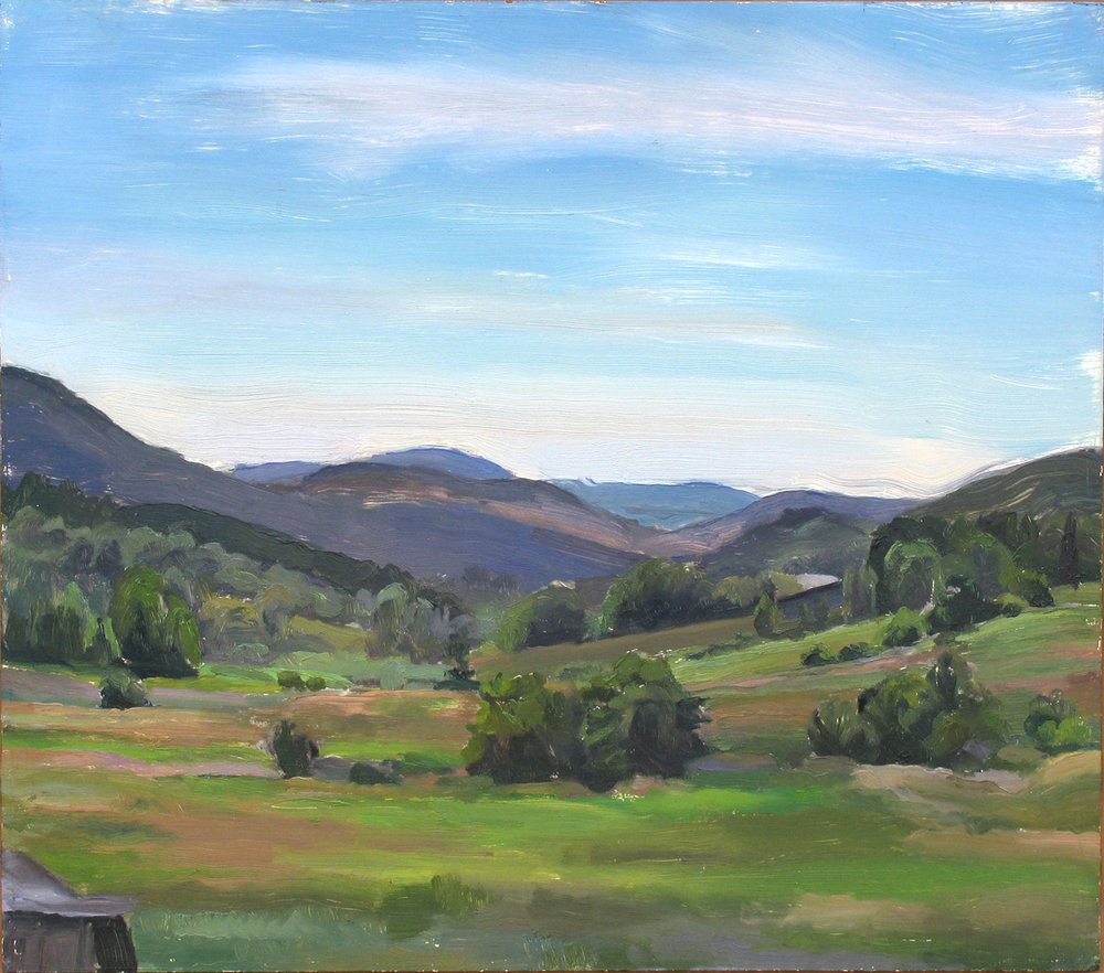 "VALLEY oil on panel 14 x 16"" 2000"