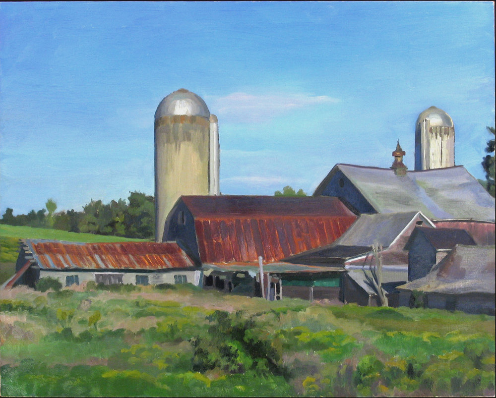"BARN oil on linen 30 x 36"" 1999"