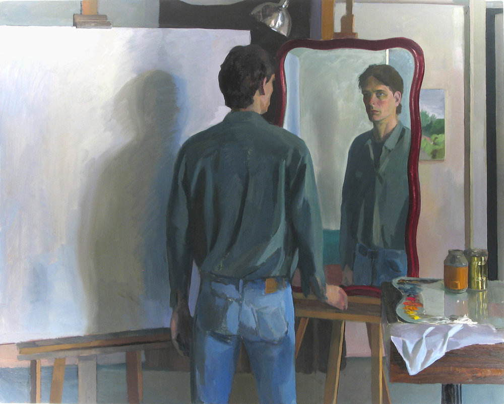 "DOUBLE SELF oil on canvas 48 x 60"" 1998"