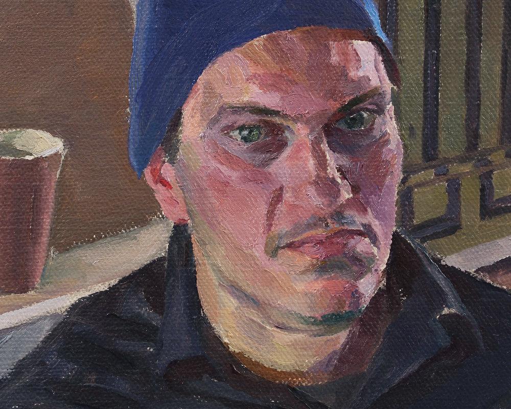 """JOE BRADLEY (detail) oil on linen 22 x 33"""" 2015"""