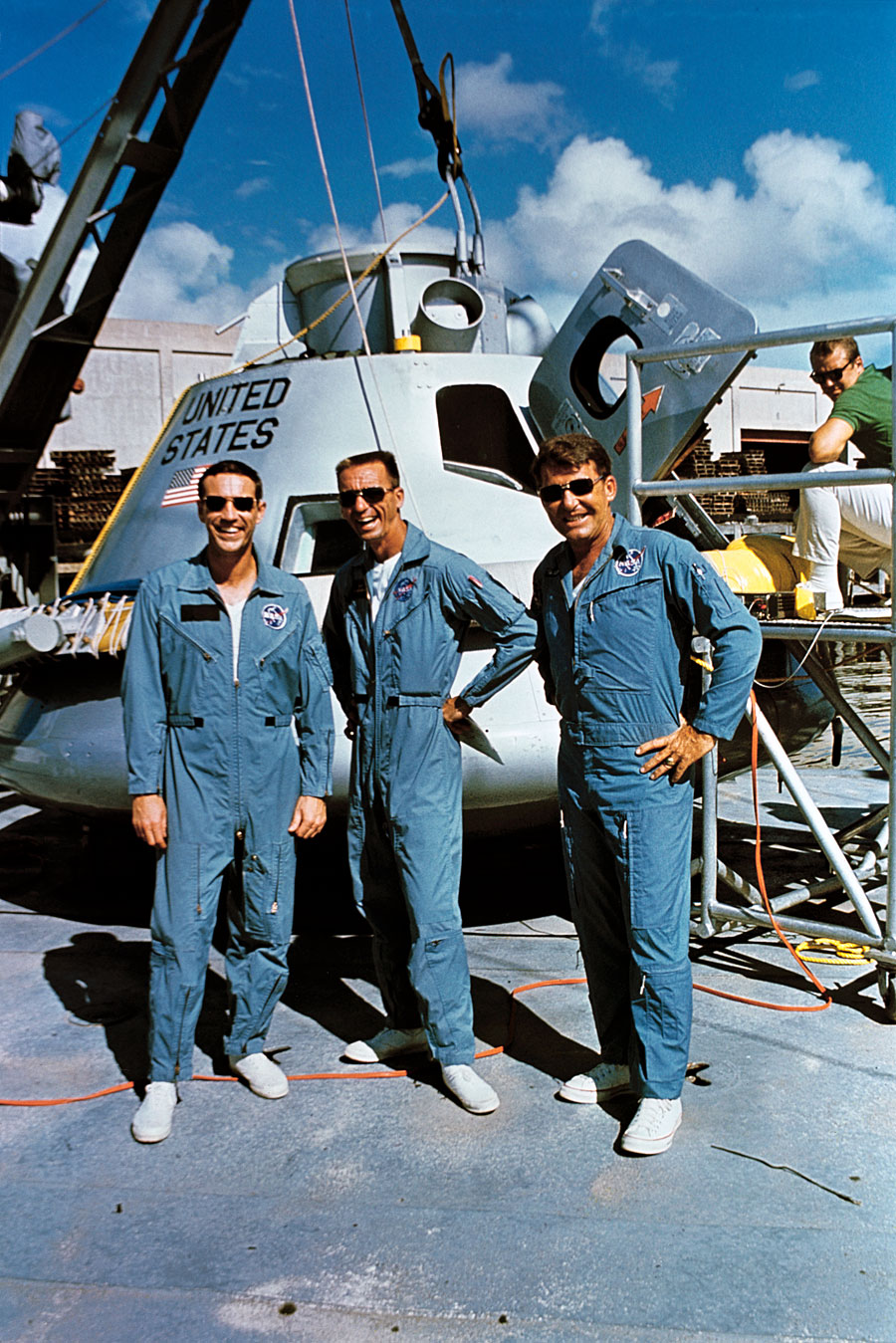 Apollo 7 Prime Crew. Photo Credit: NASA.