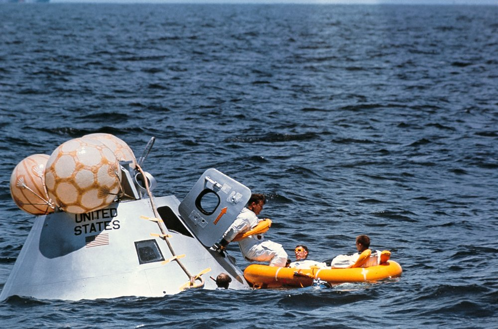 Water egress Training. Photo Credit: NASA.