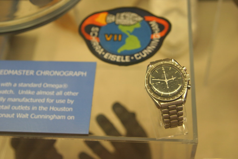 Walter Cunningham's flown Omega Speedmaster. Photo Credit: Frontier of Flight Museum.