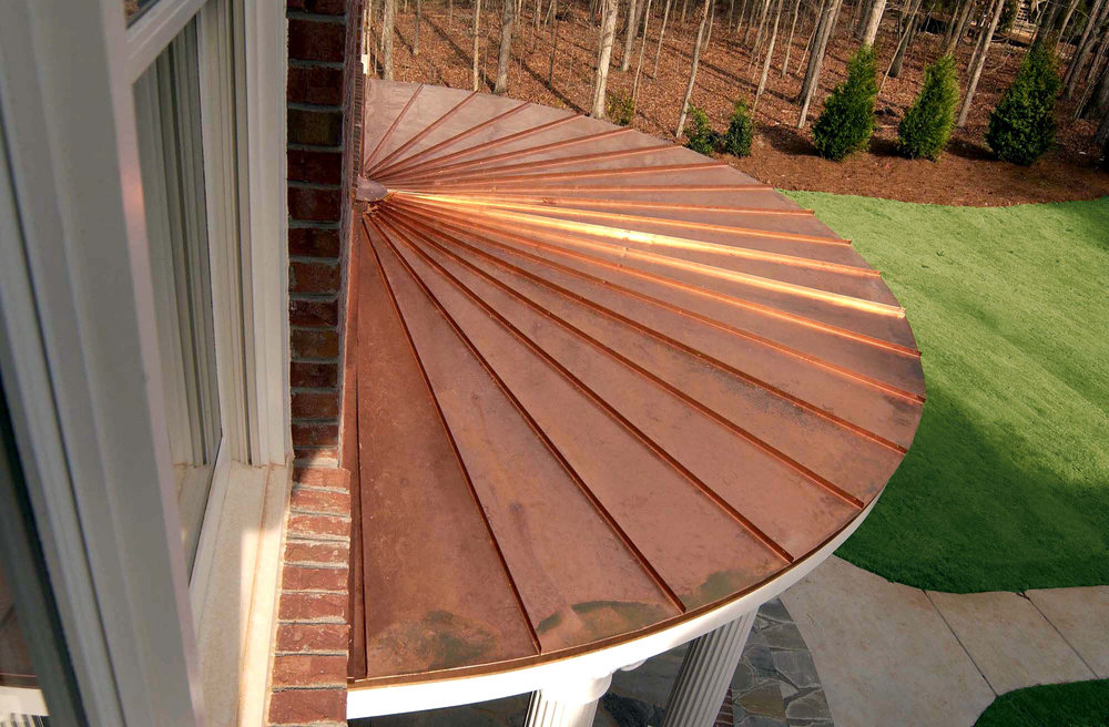 Copper Round Porch