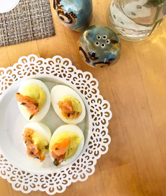 Deviled Eggs, Smoked Salmon, Capers