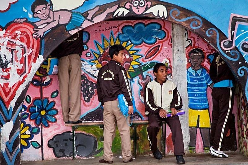 La parada del bus, El Carmen 2011