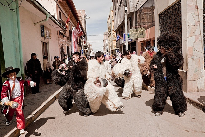 Dancing for the Virgin of Candelaria, Puno 2009