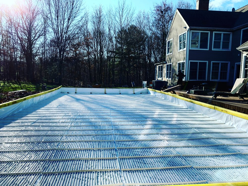Refrigerated Ice Rinks - Custom Ice Refrigerated Rink integrated with NiceRink Boards