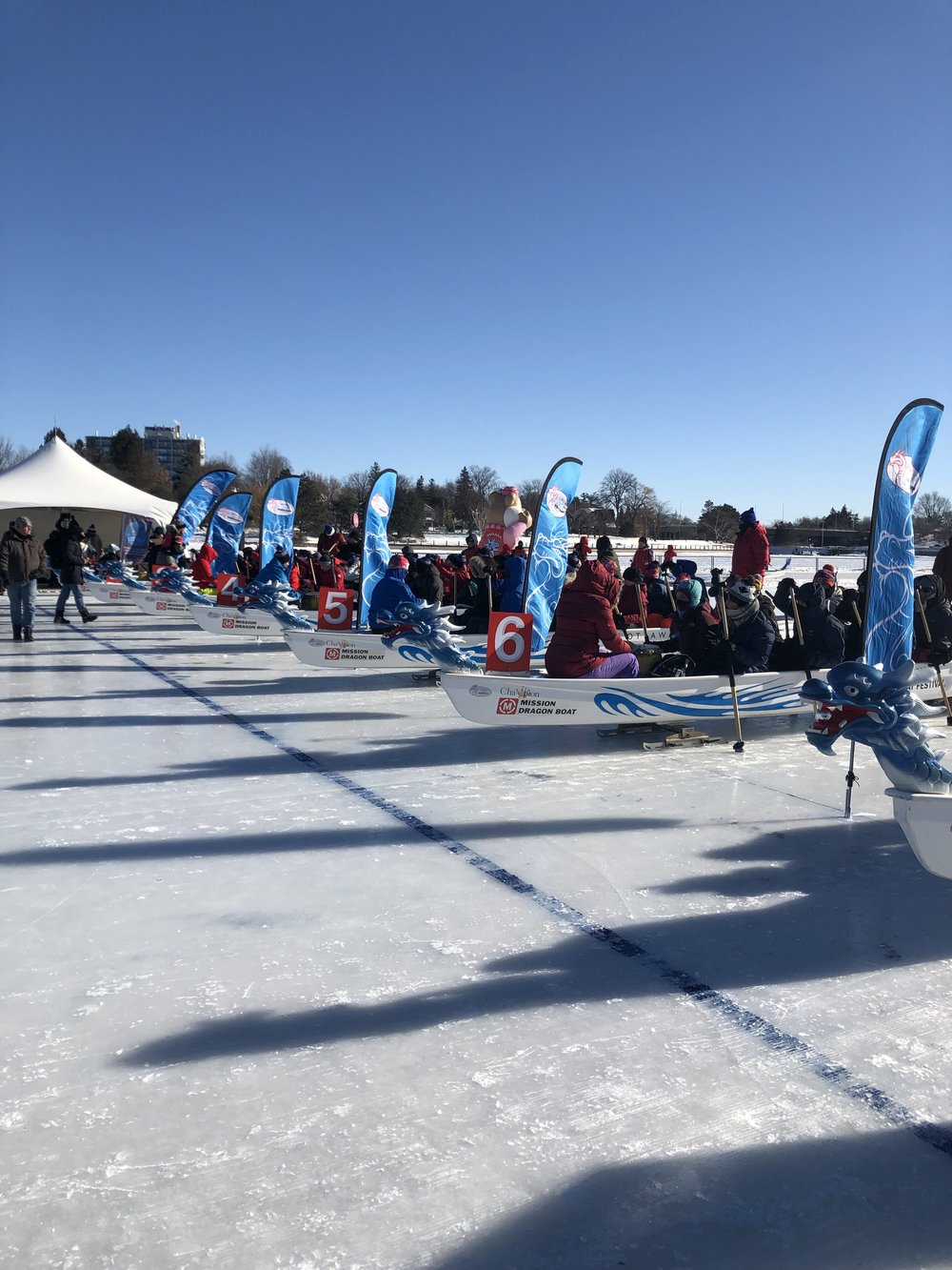 February 16, 2019  Ice Dragon Boat Race Festival which included the Shiver and Giver Fundraising Drive - Raised funds to help support Boys & Girls Club Ottawa, Ottawa Sens Foundation, OSEG Foundation, Tim Horton's Children's Foundation, ODBF Community Fund