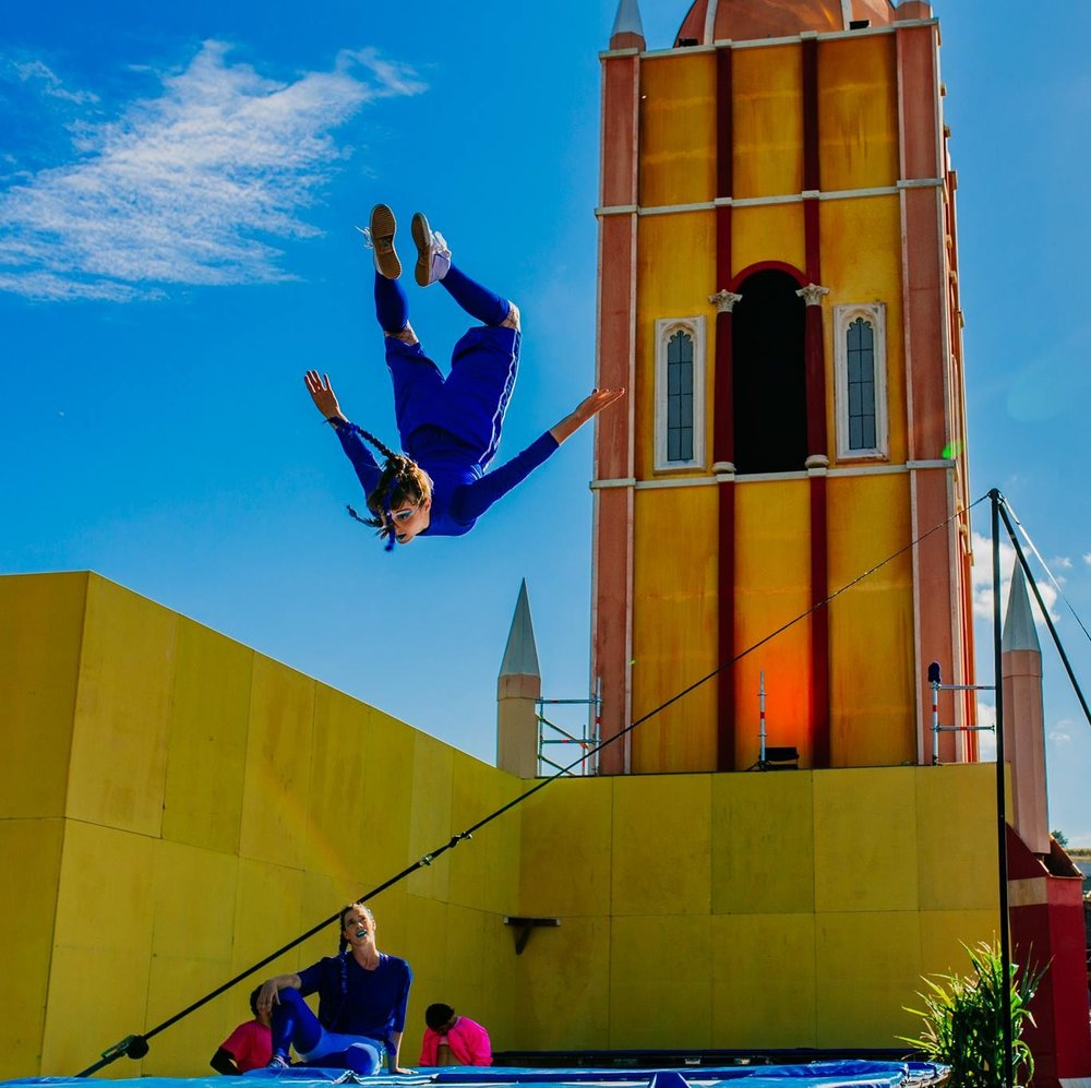 Concrete Playground - Flips, Tricks and Electric Mix of jaw dropping acrobatics and interactive performance. Bassline Circus at Boomtown Fair and beyond…